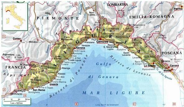 Regione Liguria Cartina Fisica.Milano Cartina Fisica